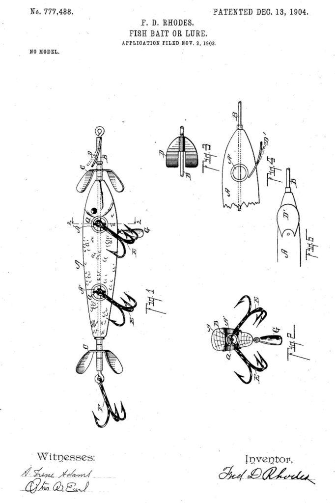 Rhodes Perfect Casting Minnow Patent