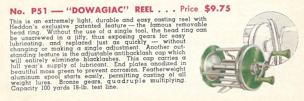 Heddon P51 Reel Catalog