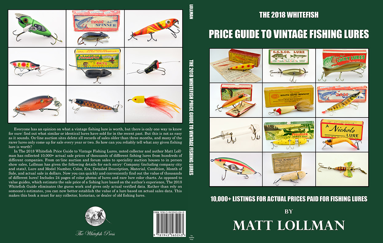 Whitefish price guide to vintage fishing lures fin for Antique fishing reels price guide