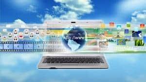 laptop i symbol www
