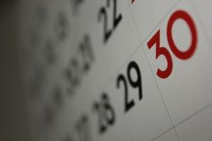 Calendario de pagos efectivo