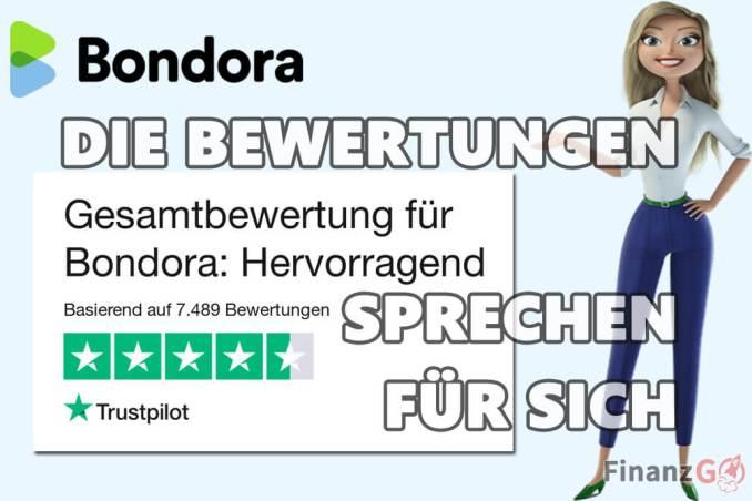 Bewertung bei Bondora sprechen für sich.