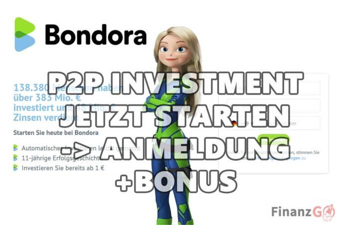 Jetzt Bondora my P to P Investment Kredit starten und profitieren. Anmeldung mit einem Bonus von 5 Euro.