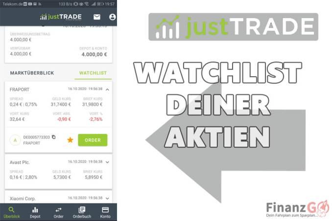 Watchlist deiner Aktien die Du kaufen möchtest!