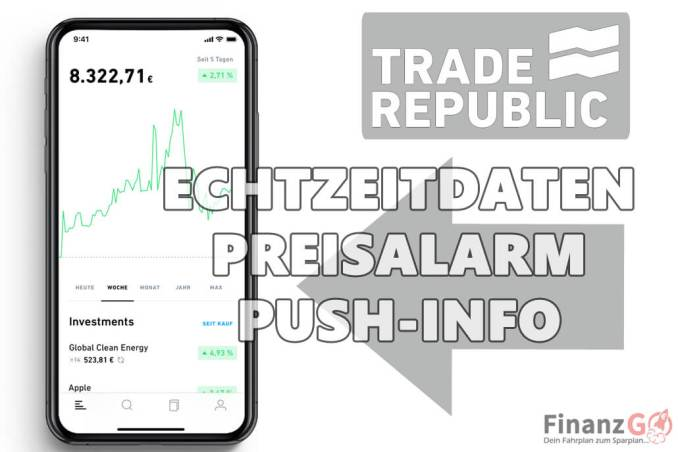 Echtzeot Daten sind bei Trade Republic Standard.