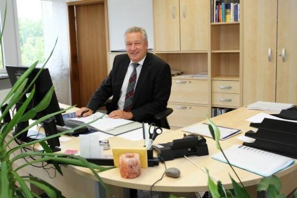 Der Arbeitsplatz von Finanzplaner Peter Hieber