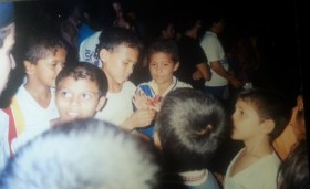 Jovenes en Misa en Barranca