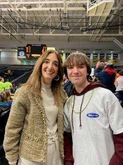 Bryce Branscom (right) is pictured with House Speaker Eileen Filler-Corn. [SUBMITTED PHOTOS]