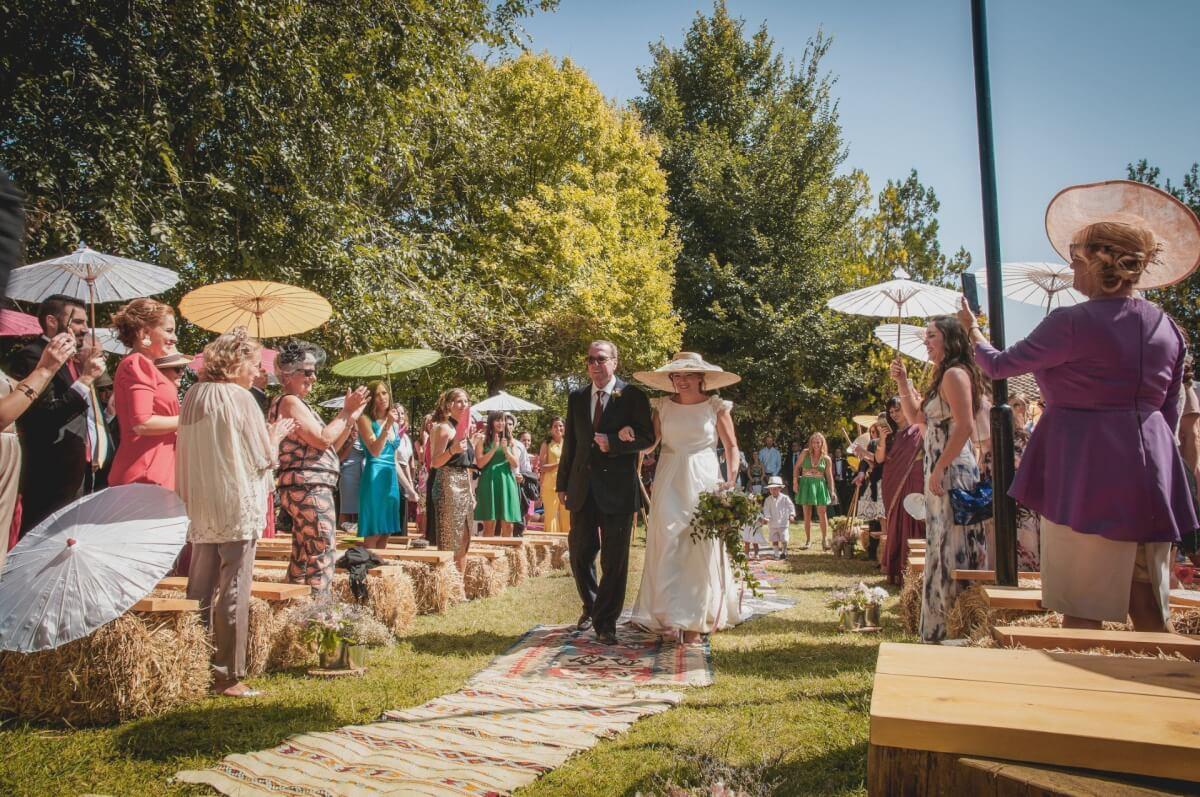 recién casados boda civil finca villa Mercedes