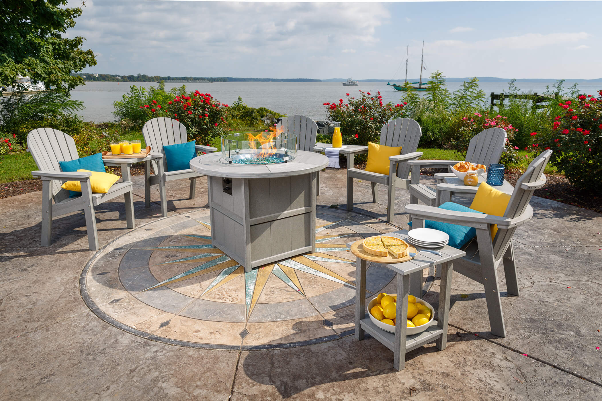 Patio Furniture Table And Chairs Great Bay Dining Furniture Finch Outdoor Poly Furniture