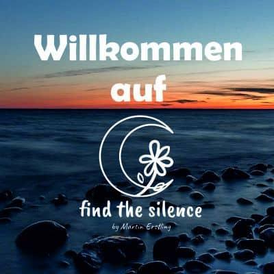 find-the-silence.de Willkommen Logo Bild