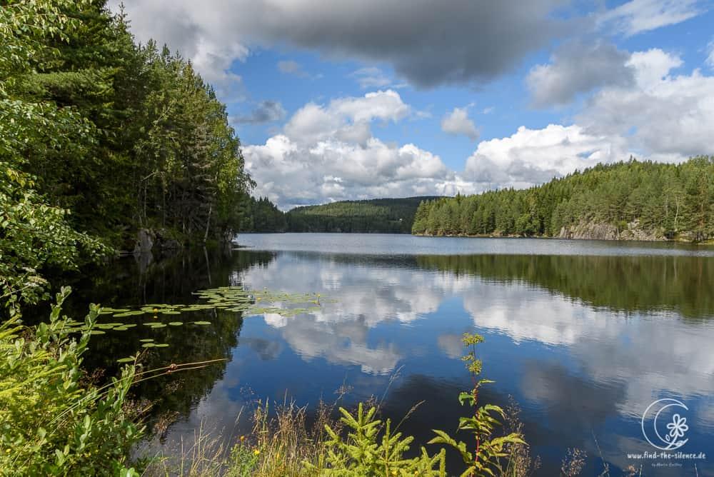Je näher man Schweden kommt, desto größer die Seen!