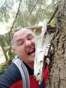 Zähne zeigen beim Geocaching im Harz