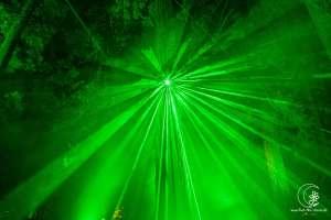 Laser-Lichtspiel