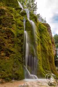 Langzeitaufnahme des Dreimühlenwasserfalls