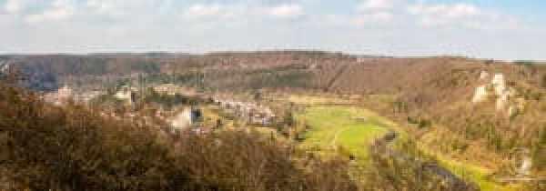 Panorama über das Blautal vom Schillerstein