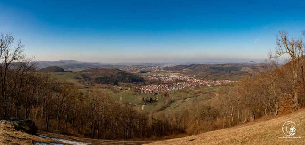 Blick vom Gleitschirmfliegerplatz