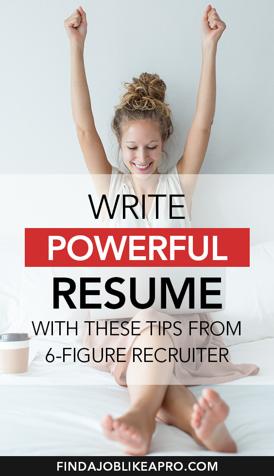 Write powerful Resume with these tips from 6 figure recruiter #resume #resumewriting #resumetips #jobsearch #recruitment