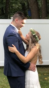 The pandemic postponed the honeymoon but the wedding still took place…..