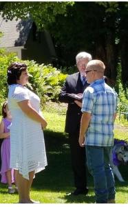 Ernie & Leanne, Backyard wedding, Peterborough NH