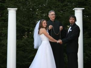 handfasting at a home wedding