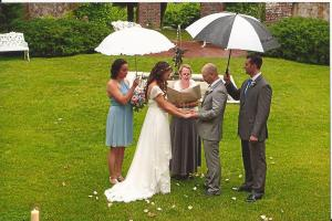 Becky and Brian had their hearts set on an OUTDOOR wedding at Keeler Tavern in Ridgefield. A little rain didn
