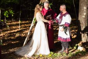 Guiseppe and Samantha, Gardens at Mt Uncanoonuc Midieval Handfasting
