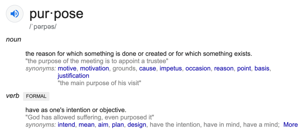 definition of purpose