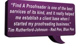 Proofreading testimonial