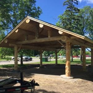 New Pavillion in Cameron Park Bemidji Minnesota