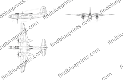 Download drawing Douglas A20 Havoc in ai pdf png svg formats