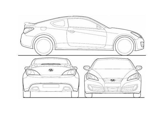 Dadurch wird eine ideale gewichtsverteilung. Download Drawing Hyundai Genesis Coupe 2011 In Ai Pdf Png Svg Formats