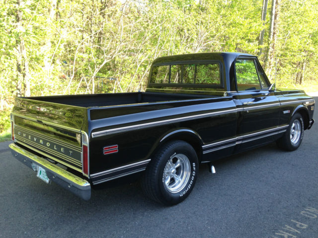 Chevrolet C-10 Standard Cab Pickup 1971 Black For Sale. 1971 Chevy short bed Cheyenne C-10 pick up truck