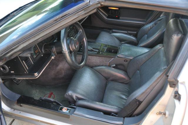 1984 Silver Corvette Red Interior