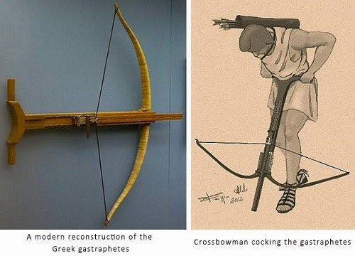Cocking Ancient Greece Crossbow