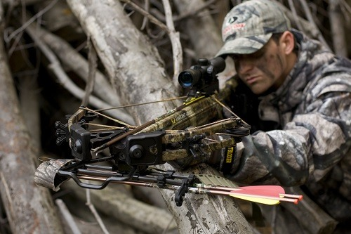 Man Hunting With Crossbow