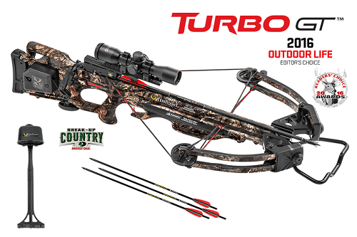 TenPoint Turbo GT Crossbow Package On White Background