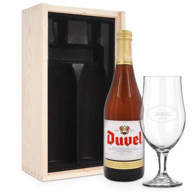 Øl gaveæske med indgraveret glas Image