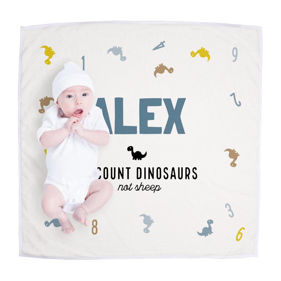 Blødt babytæppe trykt med et navn Image