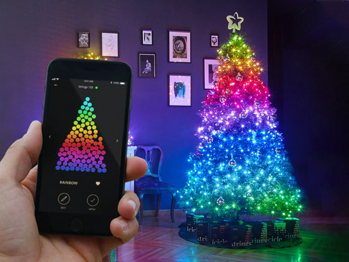 Twinkly Strings Appstyret Juletræsbelysning Image