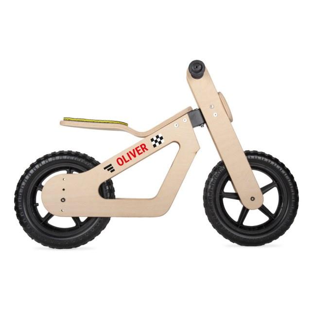 Personlige træbalance cykel med navn! Image