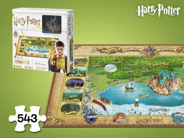 Harry Potter Hogwarts 4D-Puslespil Image