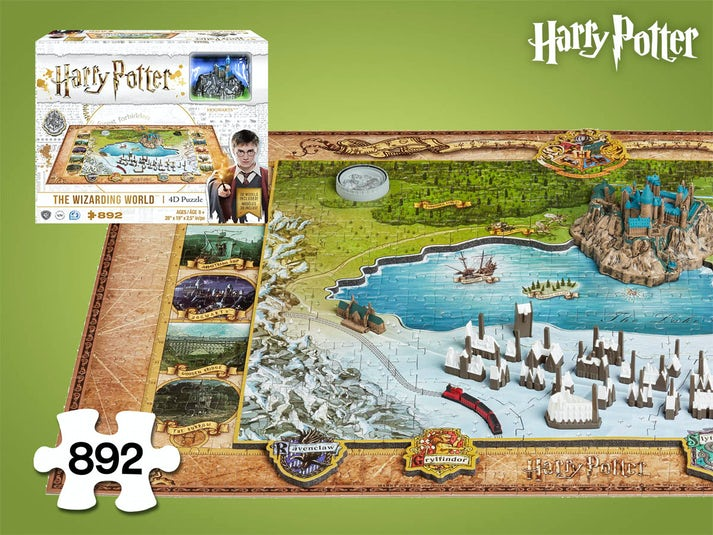 Harry Potter The Wizarding World 4D-Puslespil Image
