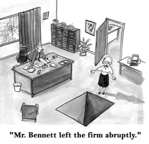 'Mr. Bennett has left the firm abruptly'