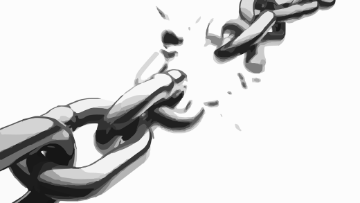 Chains breaking