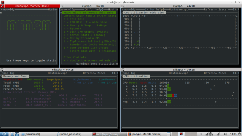 Nigel's performance Monitor for Linux (nmon) 2