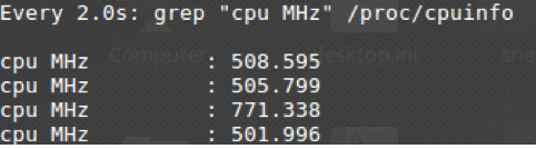 CPU speed