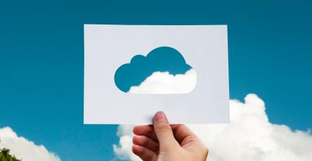paper cloud in sky