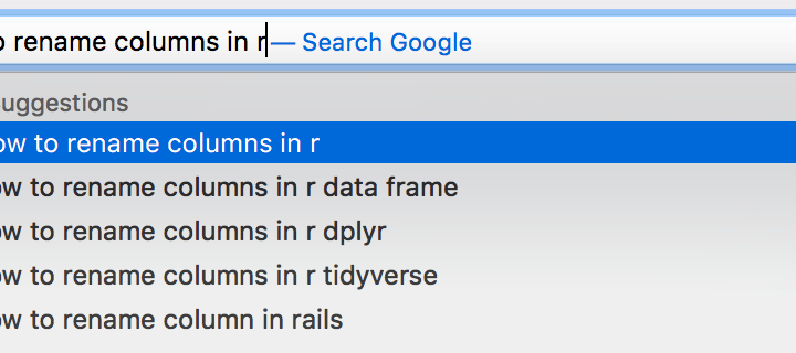 How to rename columns in r
