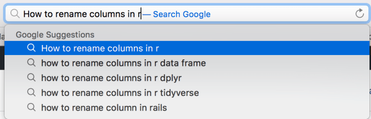 Renaming Columns with R 1